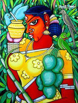 Ugadi by M D Rustum, , , Green color