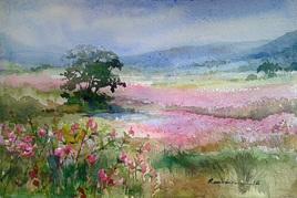 Flower Valley by Ranabir Saha, , , Green color