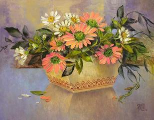 My Flowers by Swati Kale, , , Brown color