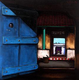 Untitled by K R Santhanakrishnan, , , Blue color