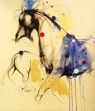 Untitled II by Mithun Dutta, Illustration, Illustration Painting, Mixed Media on Board, Beige color