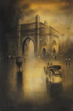 Gateway Of India (Bombay) by Somnath Bothe, , , Brown color