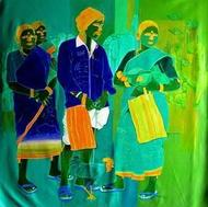 Untitled 330 by Tailor Srinivas, , , Green color