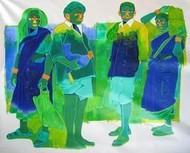 Untitled 364 by Tailor Srinivas, , , Green color