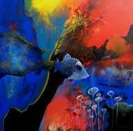 Golden Trap by Pradip Sengupta, , , Blue color