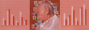 Path Of Progress by Anil Kumar Yadav, Pop Art Painting, Acrylic on Canvas, Pink color