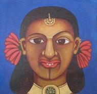 Fower Power 4 by Thota Laxminarayana, , , Brown color