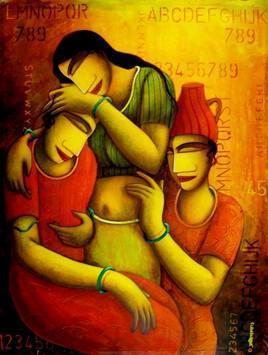 Pariber by Samir Sarkar, , , Brown color