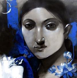Lady by Mithun Dutta, , , Gray color