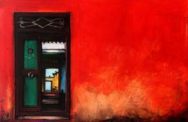 Untitled by K R Santhanakrishnan, , , Red color