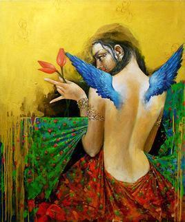Untitled 5/13 by Saumya Bandyopadhyay, , , Brown color