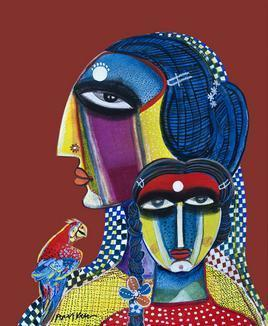Mother and Daughter by Arun K Mishra, , , Brown color