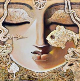 Lakshyaveda by Subrata Ghosh, , , Beige color