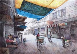 Lazy Morning by Shirish Deshpande, , , Gray color