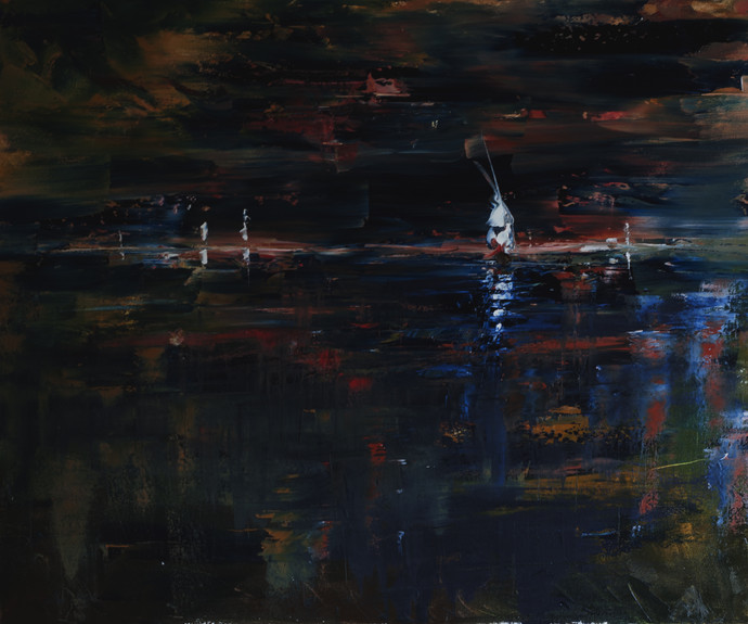 Color Of The Night Digital Print by Sachin Upadhye,Impressionism, Impressionism