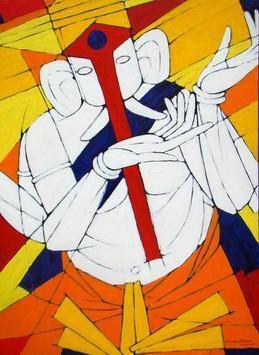 Siddhi Daata by Jiaur Rahman, , , Orange color