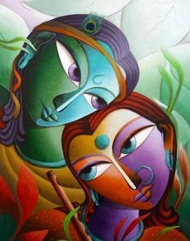 Krishna@16 by Dhananjay Mukherjee, , , Brown color