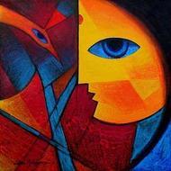 Tribal Woman by Jiaur Rahman, , , Brown color