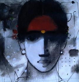Women 5 by Sachin Sagare, , , Blue color