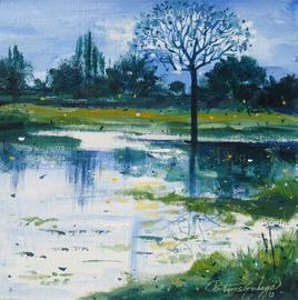 POND by Suresh Gulage, , , Green color