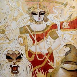 Bhairavi by Subrata Ghosh, , , Beige color
