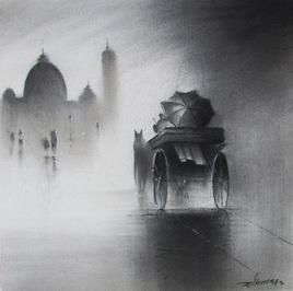 Rhythmic Monsoon 2 by Somnath Bothe, , , Gray color