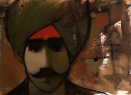 Face 1 by Sachin Sagare, , , Brown color