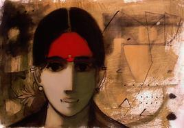 Face 2 by Sachin Sagare, , , Brown color