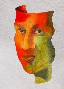 I am Alive by Swaroop Biswas, Painting, Watercolor on Paper, Gray color