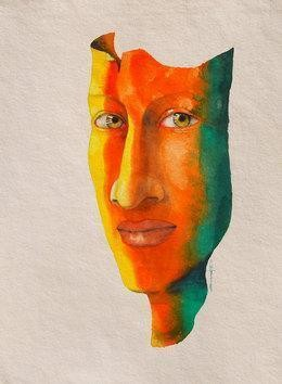 I am Alive by Swaroop Biswas, Painting, Watercolor on Paper, Beige color