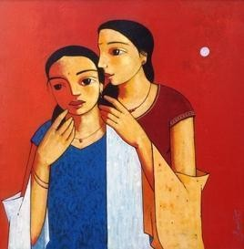 Gossip 1 Digital Print by Ganesh Patil,Decorative, Decorative