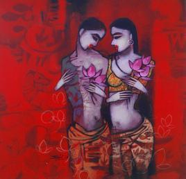 Untitled-37 by Mukesh Salvi, , , Red color