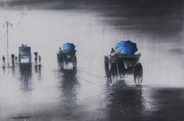 Rhythmic Monsoon Ride 2 by Somnath Bothe, , , Gray color