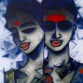 Untitled40_1 by Mukesh Salvi, , , Blue color