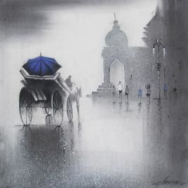 Rhythmic Monsoon 12 by Somnath Bothe, , , Gray color