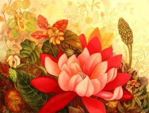 Flower 2 by Debarati Roy Saha, , , Brown color