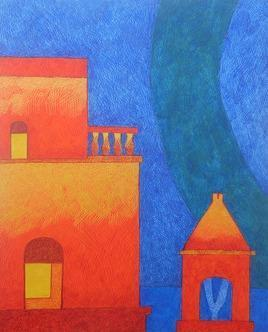 TheHouse4_1 by Amit Biswas, , , Blue color
