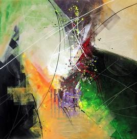 ElementalForces by Shirish Deshpande, , , Beige color