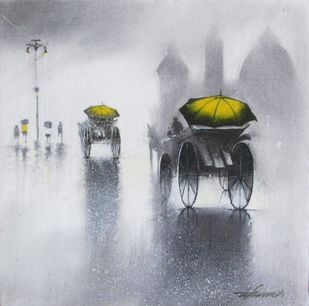 Rhythmic Monsoon 11 by Somnath Bothe, , , Gray color