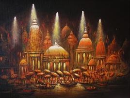 NightatBanaras by Ananda Das, , , Brown color