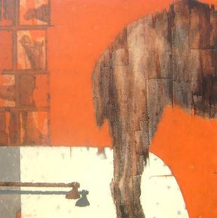 RelationshipVI by Susanta Das, Conceptual, Conceptual Painting, Acrylic on Canvas, Brown color