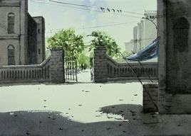 Entrance1 by Asim Paul, , , Gray color