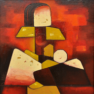 Mother and Child 01 by Dipak Asole, , , Brown color