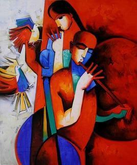 LovelyCouple9 by Arvind Kolapkar, , , Brown color