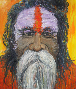 Sadhu III Digital Print by Animesh Roy,Realism, Realism