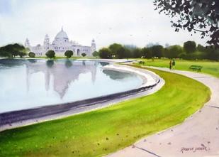 At the Victoria Memorial by Ramesh Jhawar, , , Green color