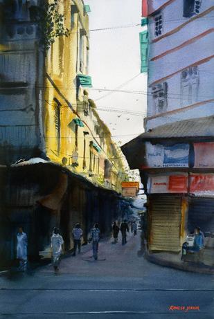 First Light by Ramesh Jhawar, , , Blue color