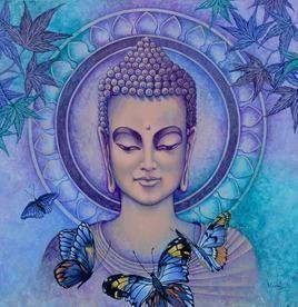 Buddha5 by Vani Chawla, , , Blue color