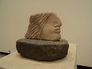 Head by Vikram Waghmode, , , Beige color