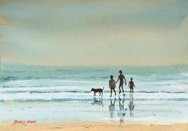 GoaBeach by Ramesh Jhawar, , , Beige color